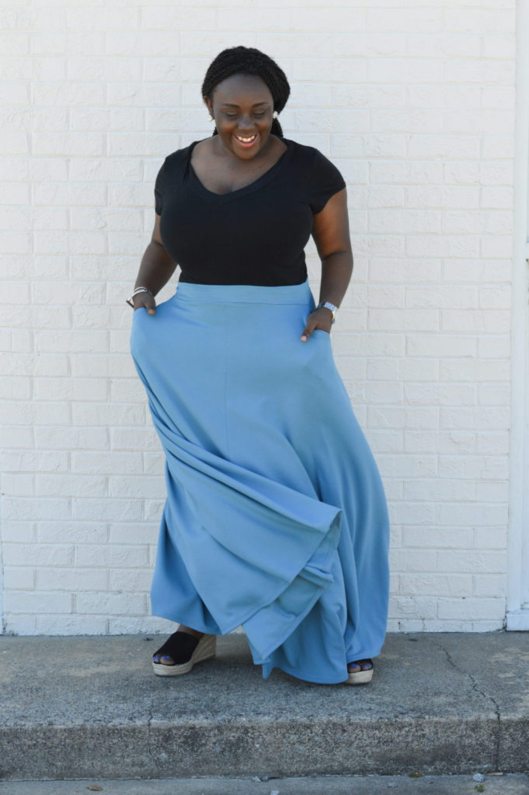 Styling Maxi Skirt in fall