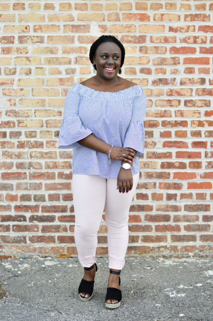 Styling an Off the Shoulder top