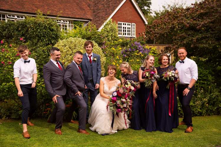 group wedding photos by Lottie Povall, London Wedding photographer