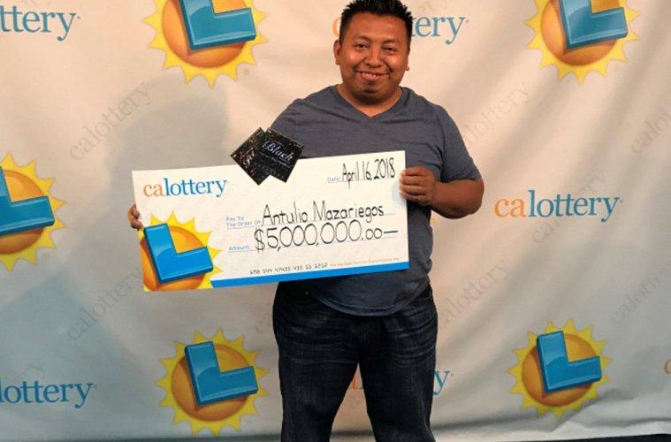 $6 million in prize winner, Antulio Mazariegos. Image Credit ©Tribune Media Wire