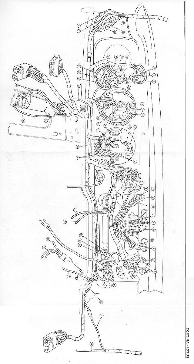 1969-1970 Lotus Cortina Dash Wiring