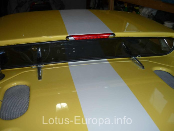 1970 Lotus Europa S2 third brake light detail