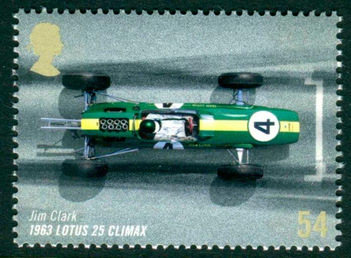 Jim Clark 1963 Lotus 25 stamp