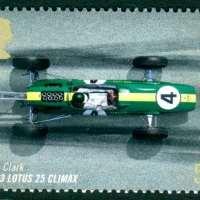 Jim Clark 1963 Lotus 25 Climax stamp