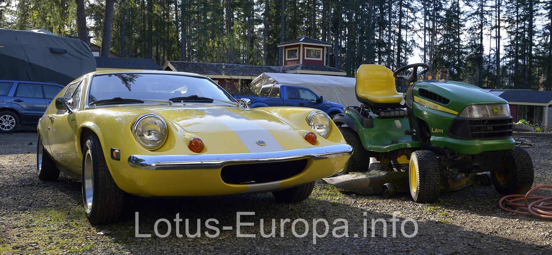 Lotus Europa and John Deere