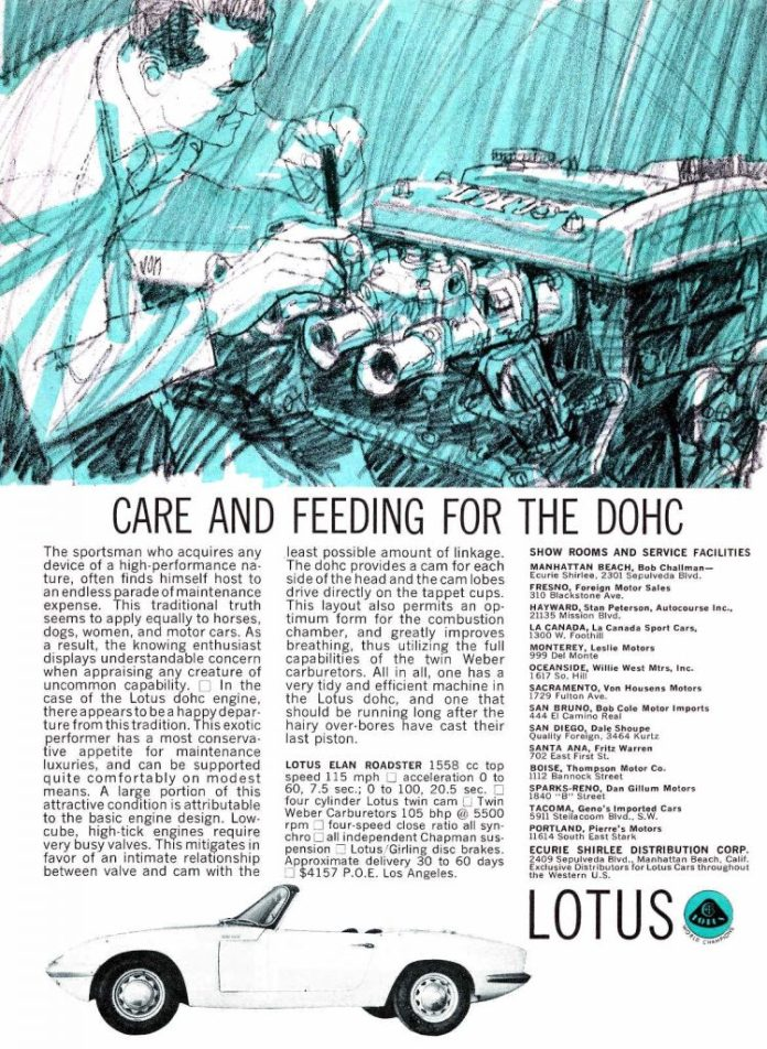 Care and Feeding for the DOHC Lotus Elan