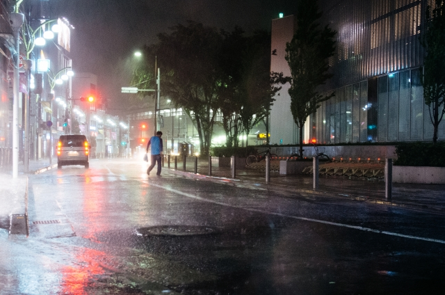 雨の強さと降水量の目安