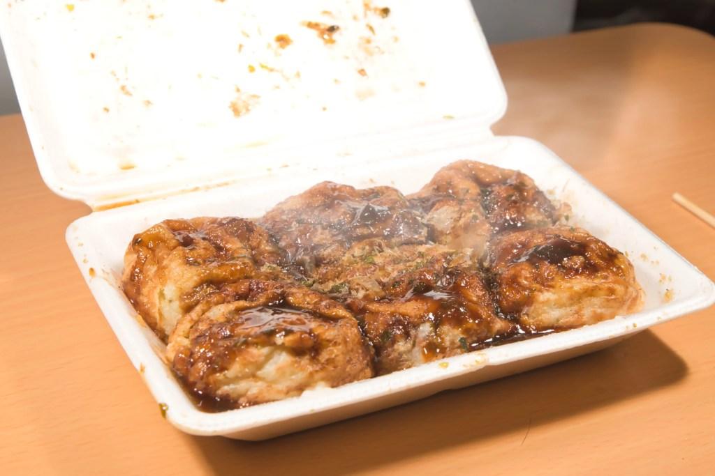 ラムー「パクパク」メニュー紹介①たこ焼き&マヨネーズ たこ焼き(1パック6個入り)