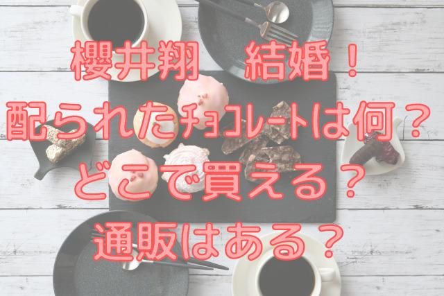 櫻井翔が結婚で送ったチョコレートは何でどこで買える?売り切れで通販はある?