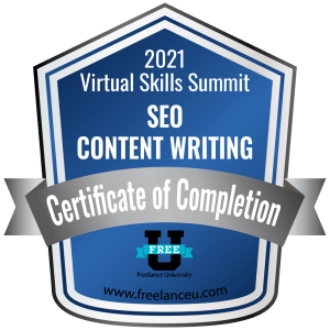 DARK TEAL CERTIFICATE - SEO CONTENT WRITING