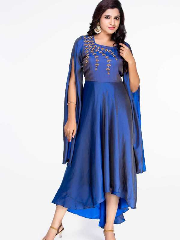 Blue Crepe Gown