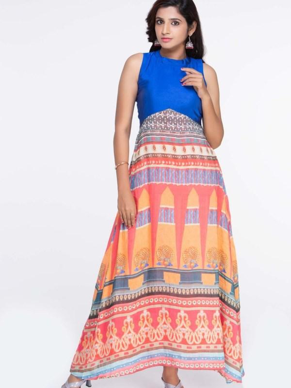 Raw Silk Maxi Dress