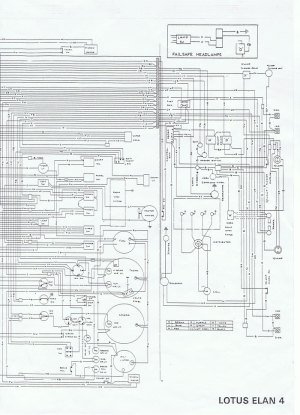 Wiring diagram for Lotus Elan Series 4