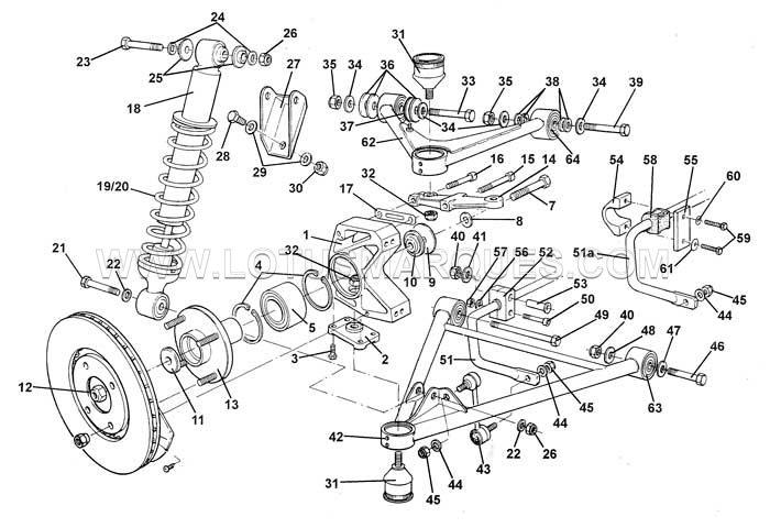 Lotus Elise S1 front suspension