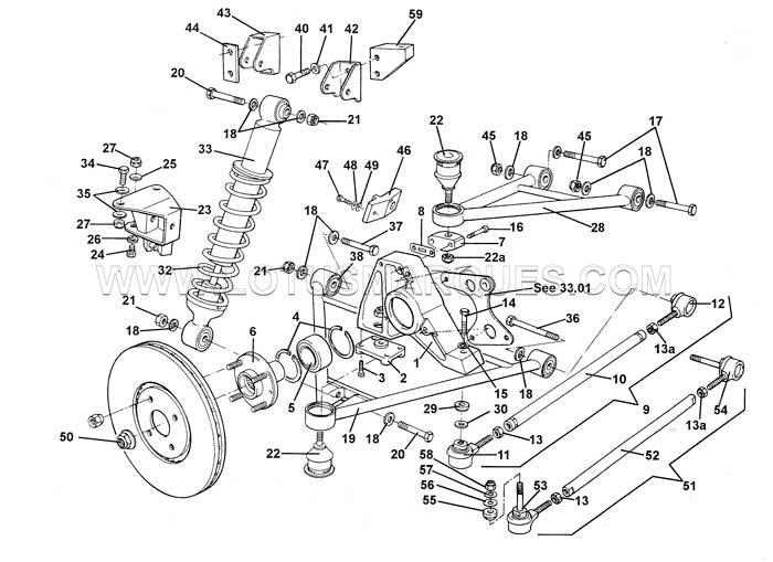 Lotus Elise S1 rear suspension