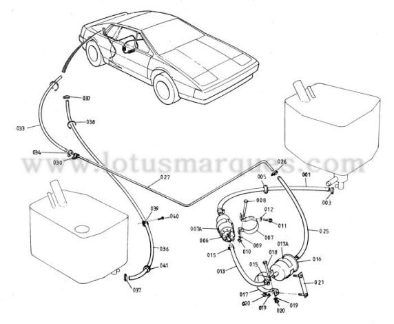 Lotus Esprit turbo S3 fuel system