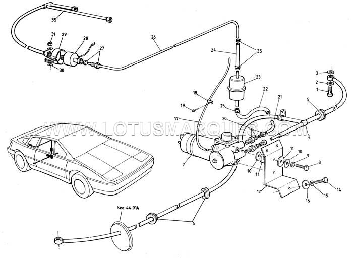 Lotus Esprit normally aspirated fuel system 88 to 92