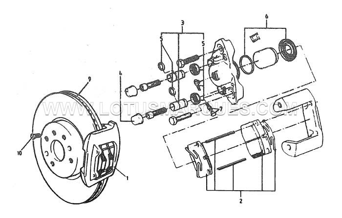 Lotus Elan M100 front brakes