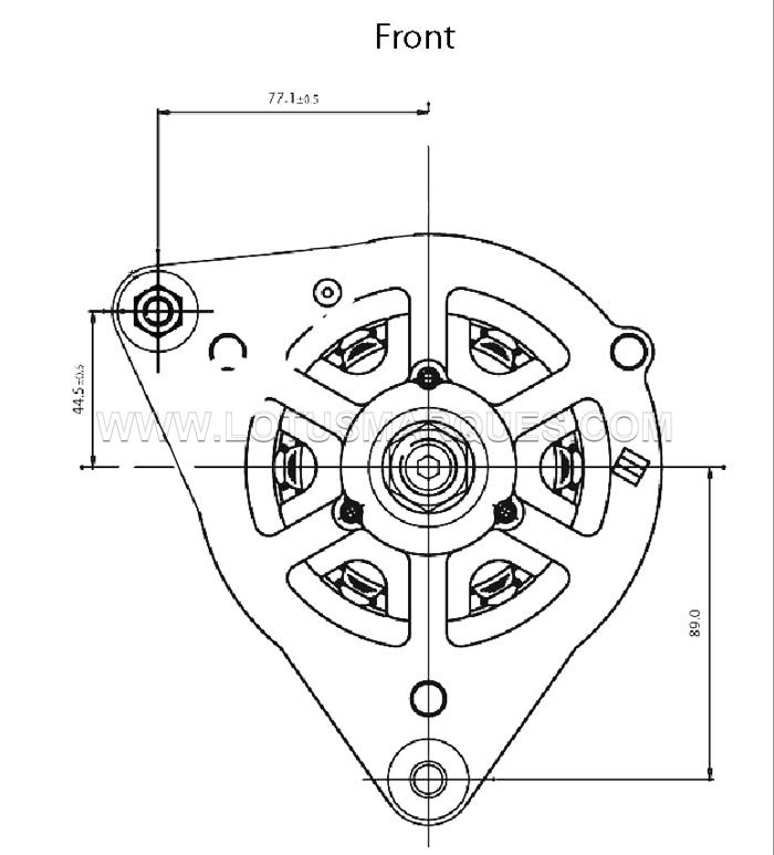 Lucas 17ACR alternator engineering drawings and dimensions