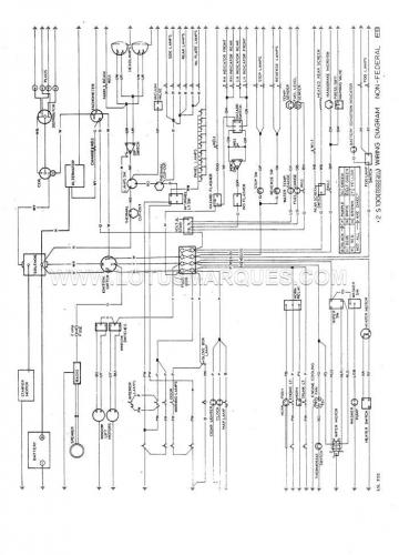 Lotus Elan+2 S130 wiring diagram, DOM, alternator