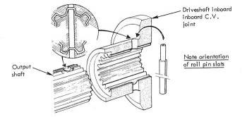 Lotus Esprit gearbox output shaft seals replacement procedure