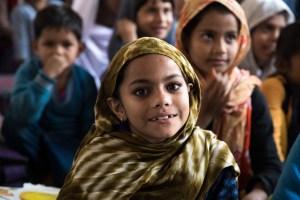 Indian girl smiles