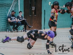 Lotus Phtotography Bournemouth Dorset Roller Girls Roller Derby Sport Photography 200