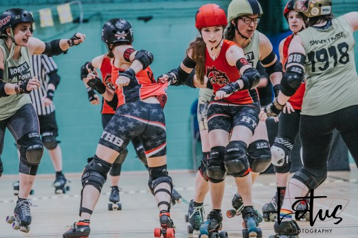 Lotus Phtotography Bournemouth Dorset Roller Girls Roller Derby Sport Photography 39