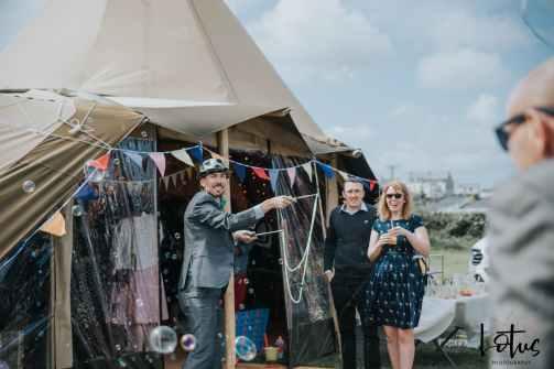 Lotus Photography UK 20190831 Jen & Ad Wedding Tintagel Cornwall Festival Wedding Tipi 188
