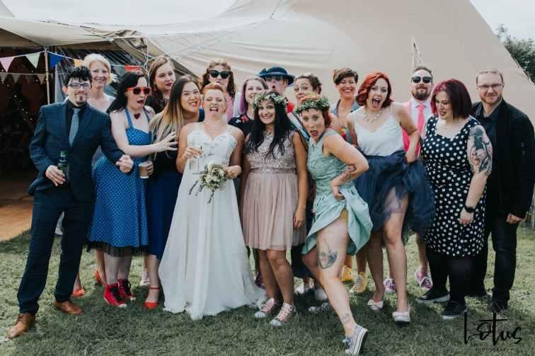 Lotus Photography UK 20190831 Jen & Ad Wedding Tintagel Cornwall Festival Wedding Tipi 191