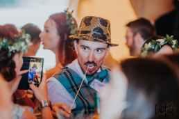 Lotus Photography UK 20190831 Jen & Ad Wedding Tintagel Cornwall Festival Wedding Tipi 324