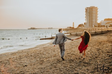 Lotus Photography UK 20200911 Dom & Rose Worthing Sussex Beach Engagement Photoshoot 24 WM
