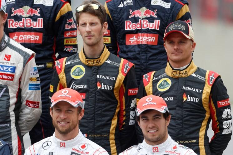 Romain Grosjean, Lotus F1, & Heikki Kovalainen, Lotus F1