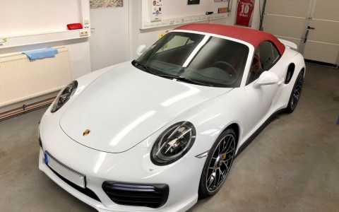 Porsche 991 Turbo S weiß