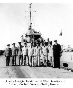 USS EAGLE 19 - Chief Petty Officers & Commissioned Officers