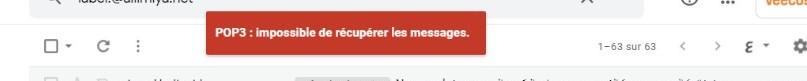 POP3 : Impossible de récupérer les messages