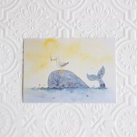 Whale art print, Nautical Nursery decor, Nursery art print