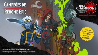 Idle Champions of The Forgotten Realms Grátis na Epic Games Store