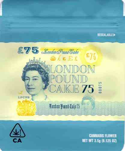 Cookies - London Pound Cake Mylar Bag (front)