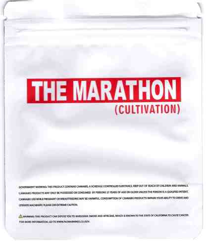 The Marathon - Opulence Mylar Bag (back)