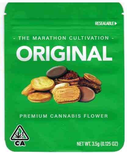 The Marathon - Original Cookies Mylar Bag (front)