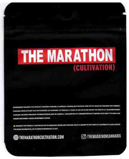 The Marathon - Shark Bite Mylar Bag (back)