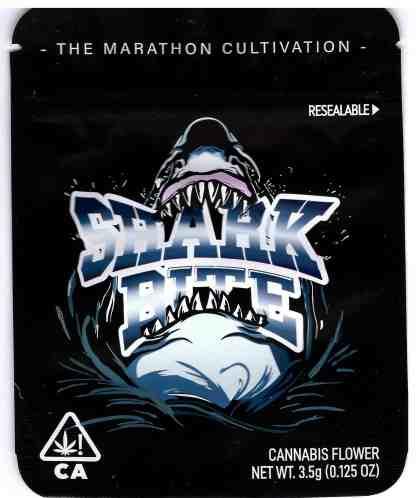The Marathon - Shark Bite Mylar Bag (front)