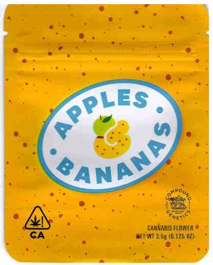 Cookies - Apples and Bananas Mylar Bag (front)