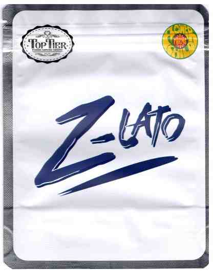 Top Tier - Z-Lato Mylar Bags & Labels (front)
