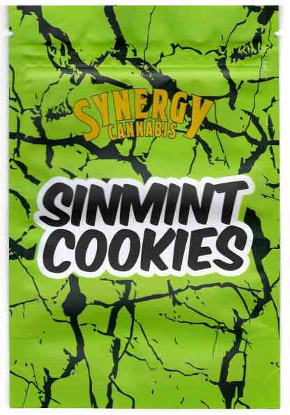 Synergy - Sinmint Cookies Mylar Bags (front)