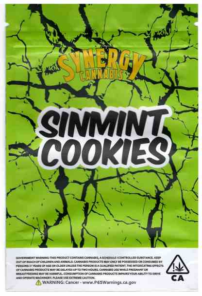 Synergy - Sinmint Cookies Mylar Bags (back)