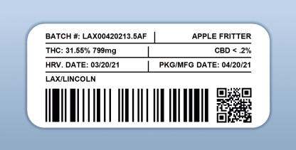 LAX - Apple Fritter (barcode label)