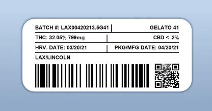 LAX - Gelato 41 (barcode label)