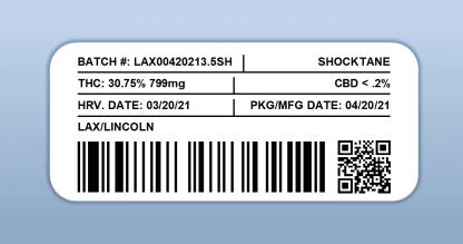 LAX - Shocktane (barcode label)